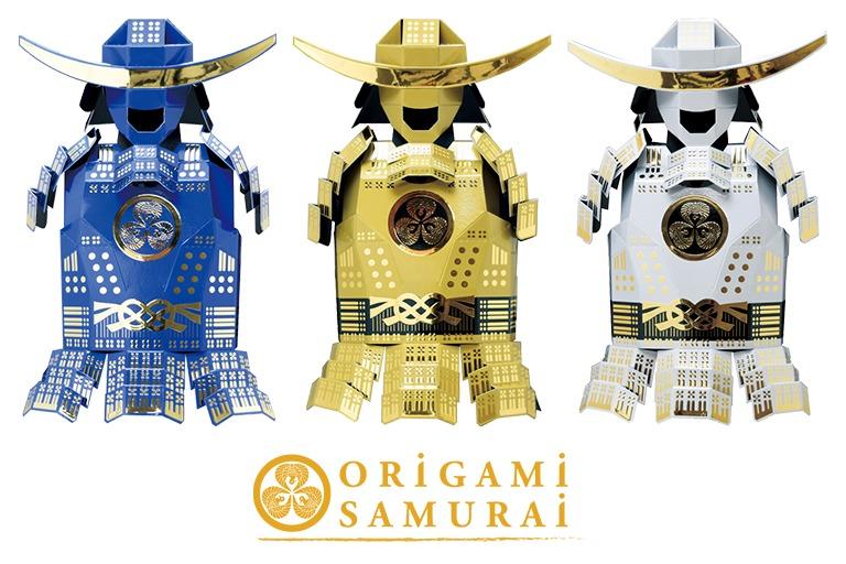 origami samurai 青 金 白