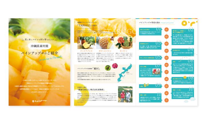 ちゅらゆーな株式会社様【海産物卸業・飲食店】パンフレット