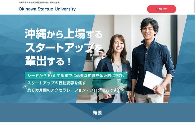 株式会社 琉球DigiCo様 【IT受託事業】Okinawa Startup University ランディングページ